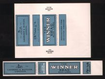 Vintage 2 varieties old cigarette tobacco packet labels  #844